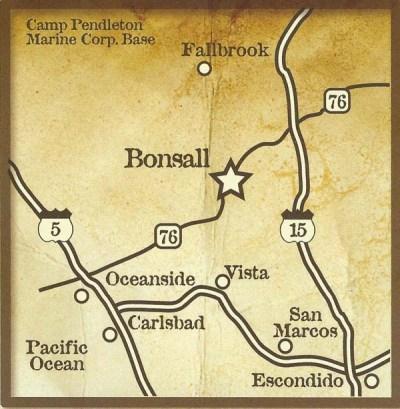 Bonsall Map