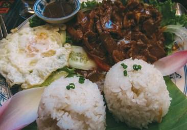Beef lok lak @ Amok Restaurant