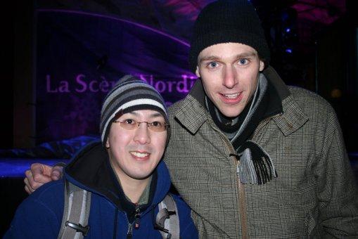 With Joel Plaskett at Winterlude 2008