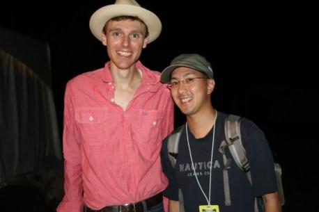 With Joel Plaskett at Ottawa Folk Festival.