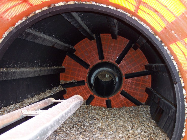 Inside Barrel View with material
