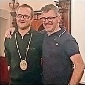 Ehrentüüfel Urs Heuberger (links) und der neue Gildemeister René Gerber
