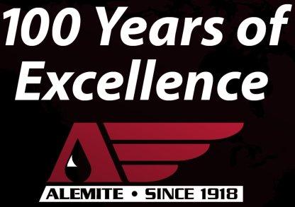 Alemite 100 Years Logo
