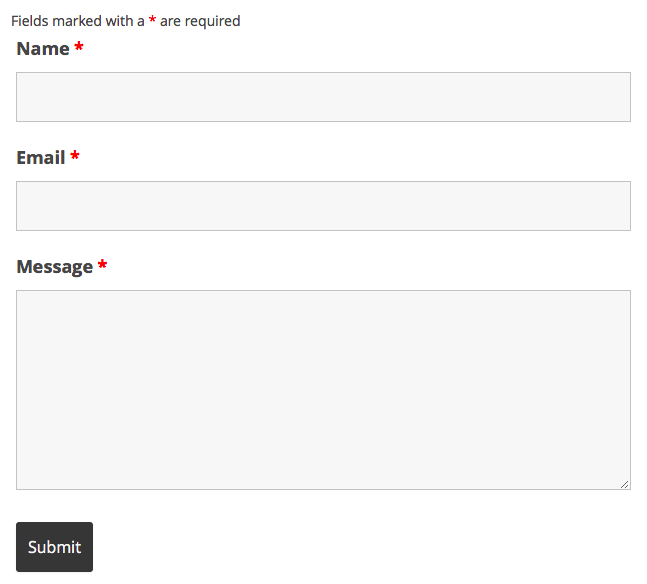 Ninja Forms форма обратной связи WordPress