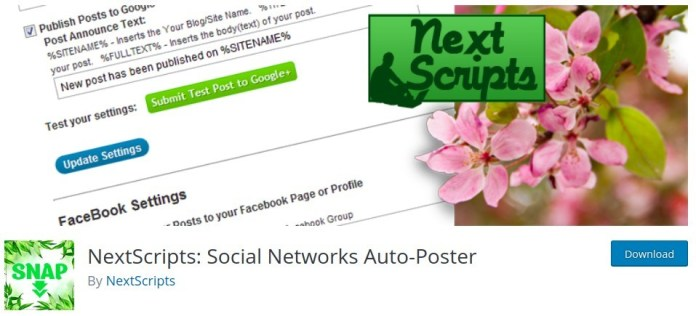 NextScripts: Social Networks Auto-Poster