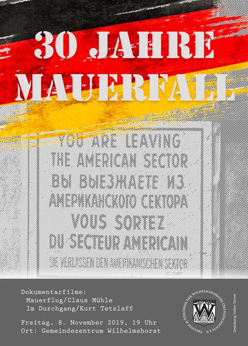 Plakat: 30 Jahre Mauerfall