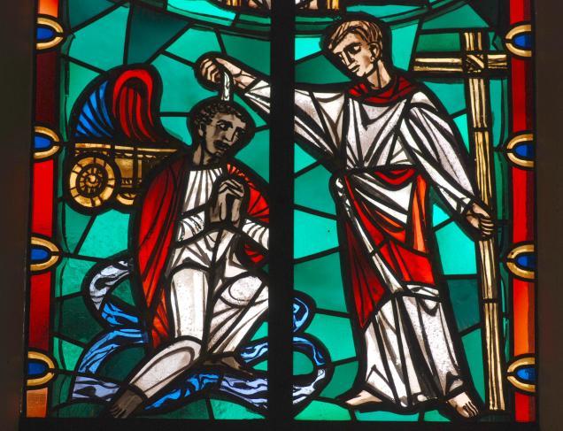 Philipus tauft den Kämmerer