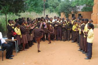 Kids at school in Salem