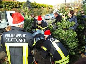 Freiwillige Feuerwehr Stuttgart Riedenberg Christbaumverkauf 5.12.2015