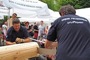 Sägewettbewerb Freiwillige Feuerwehr Stuttgart Heumaden 24.7.2016