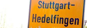 Stuttgart Hedelfingen Ortsschild