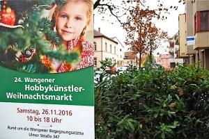 Wangener Hobbykünstler-Weihnachtsmarkt 26.11.2016Wangener Hobbykünstler-Weihnachtsmarkt 26.11.2016