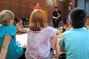 Inklusionsprojekt Handicap macht Schule Grund- und Werkrealsschule Stuttgart Heumaden 27.6.2017