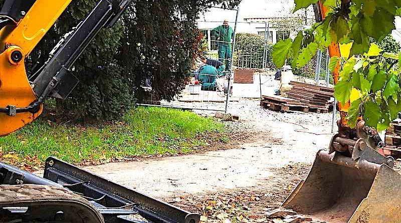 Johann-Heinrich-Strauß-Platz Stuttgart Sillenbuch Bauarbeiten Oktober 2017