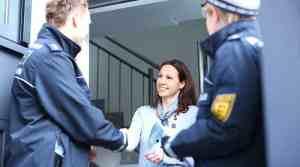 Polizei im Gespräch