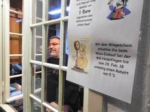 Neujahrswiegen Kelter Stuttgart Hedelfingen 6.1.2018
