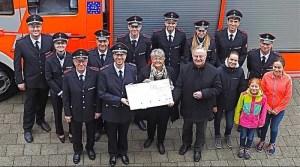 Freiwillige Feuerwehr Riedenberg Spendenübergabe 27.1.2018