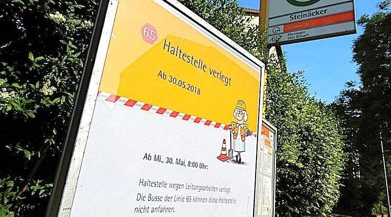 Stuttgart Riedenberg Haltestelle verlegt