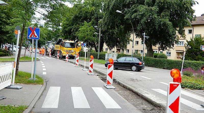 Heumaden Baustelle Umleitung Juni-August2020