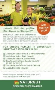 Stellenanzeige Naturgut Bio-Supermarkt