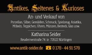 Anzeige von Antikes, Seltenes & Kurioses von Katharina Seider