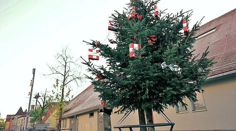 In Wangen steht wieder ein Weihnachtsbaum