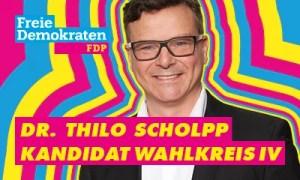 Bannerwerbung Dr. Scholpp FDP zur LTW