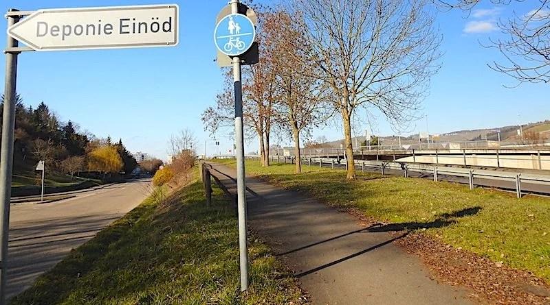 Einödstraße bei Deponie mit Blickrichtung Hedelfingen