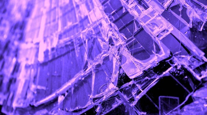 gebrochene Glasscheibe