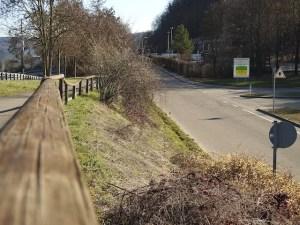 Fußweg zwischen Einödstraße und B10