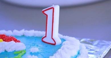 Geburtstagstorte mit 1
