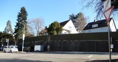 Blick von der Krautgartenstraße auf die Heumadener Straße
