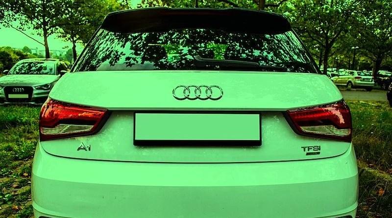 Heck Audi A1 ohne Nummernschild