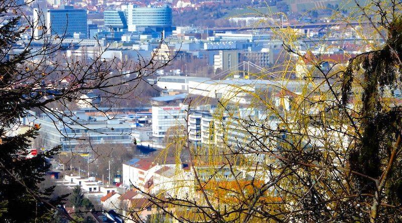 Blick vom Steinprügel nach Wangen und Untertürkheim