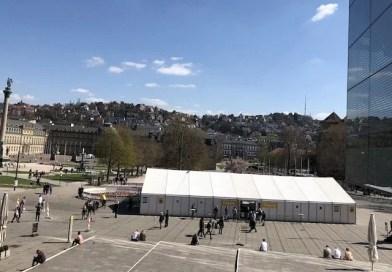 Testzentrum Schlossplatz schließt, Wasen verlängert