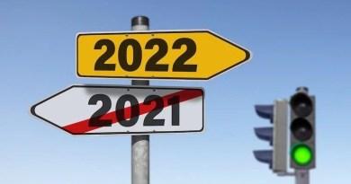Wegweise nach 2021 (durchgestrichen) und 2022