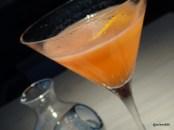 """HKK - """"Bitter Fortune"""" (Tanqueray 10, rhubarb liqueur, aperol and grapefruit)"""