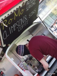 Munch Street Food - RoMo serving Climpsons & Sons Coffee