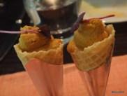 "Benares Restaurant (Mayfair) - ""Chicken Tikka Cone"", this is a chicken paté not an ice cream!"