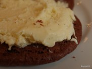 Grillshack - Cookie Sandwich, two soft double chocolate cookies with vanilla ice cream filling