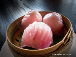 Hutong - Rose champagne shrimp dumplings