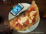 Calzone with an iPhone 5s for scale...