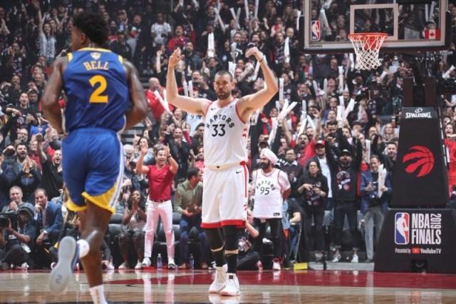 NBA總冠軍G1/暴龍首節飆進5記三分球 25:21領先勇士