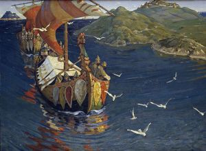 "Nicholas Roerich ""Guests from Overseas"" 1901"