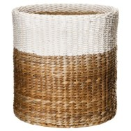 Target Threshold Color Block Round Woven Basket