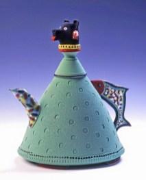 Low-fire porcelain teapot, Anchorage Musem Purchase Award
