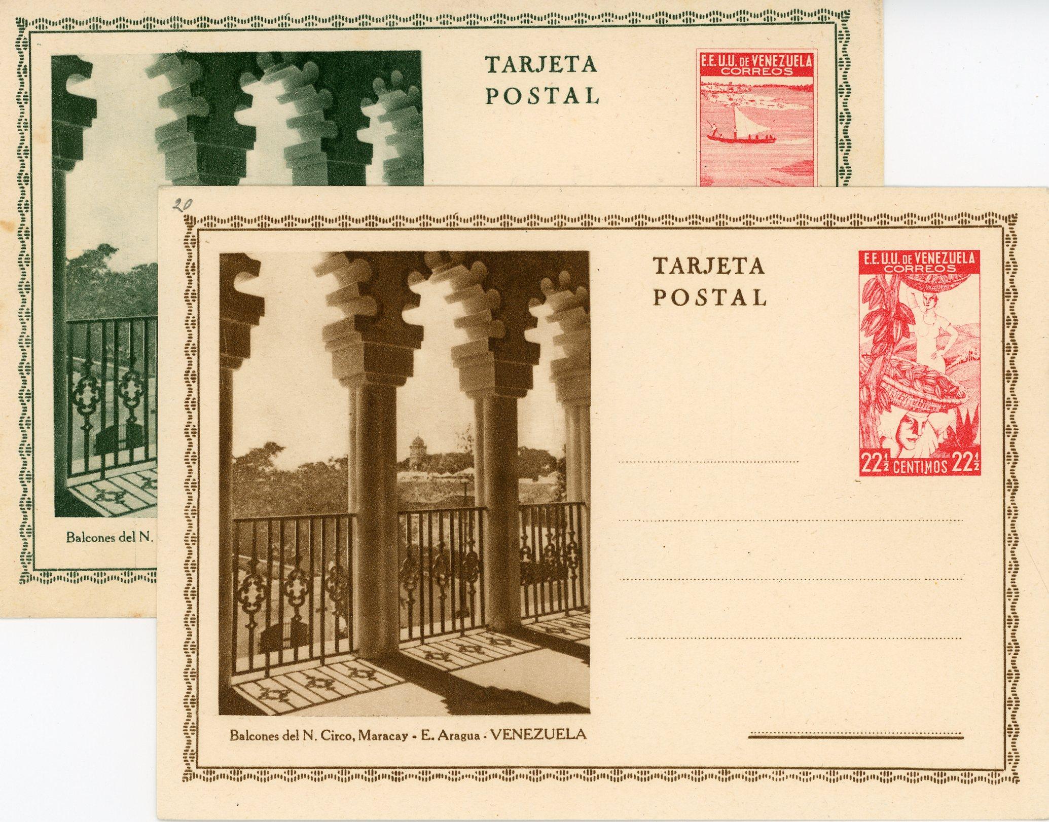 Tarjetas Postales de 1937 (y 43)