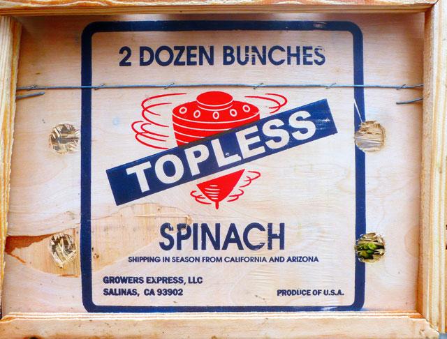 Top[lessSpinach