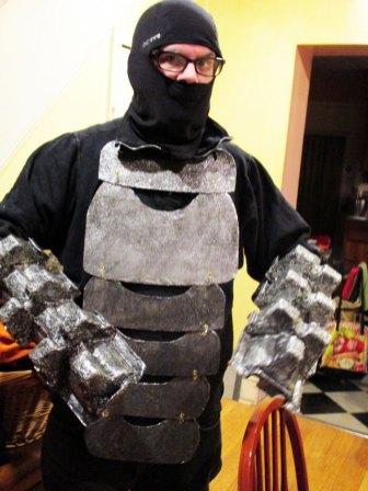 Joe models the armor thus far