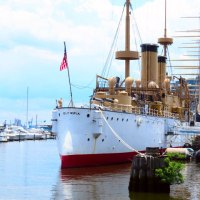 Looking South - The USS Olympia